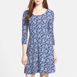 MICHAEL Michael Kors + Navy Arundel Paisley Dress